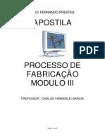 APOSTILA PROCESSO FABRICAÇÃO - MODULO III