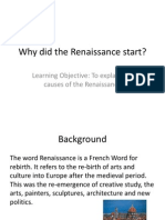 Why Did the Renaissance Start