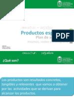 Módulo 3.3 Productos, plan de actividades, insumos, costos y cronograma