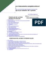 PERFILES DE ACERO  ESTRUCTURALES y COMERCIALES