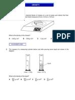 IGCSE Physics - Density