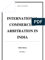 International Commercial Arbitration in India