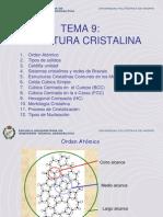 Tema 9 Estructura Cristalina