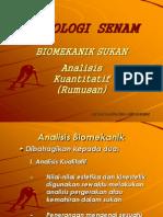 Biomekanik Sukan (Analisis Kuantitatif Rumus)