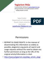 Plaggiarism FAQs Sajjad Haider