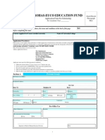 Education Application Form2009