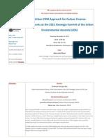 An Urban CDM Approach for Carbon Finance_Agreements at the 2011 Gwangju Summit of the Urban Environmental Accords (UEA) BBL