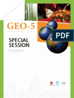 Program of Special Session at GEO-5 Global Environment Outlook