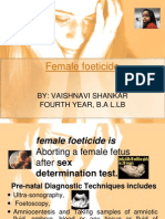 Ppt on Female Foeticide