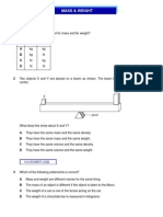 IGCSE Physics - Mass & Weight