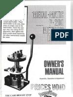 Metal Matic P 200 Manual