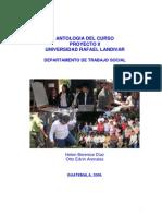 Antologia Proyectos Sociales II, Julio 2,008