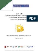 Studii de realizare a sistemelor solare termice în Europa de Est.
