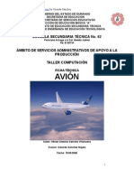 Análisis de Objeto Técnico del Avión