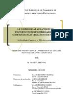 Le Commissariat aux apports et l'intervention du commissaire aux comptes dans les opérations de fusions. Méthodologie d'approche et difficultés pratiques