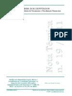 NOTA Técnica nº 19-2011 Camara