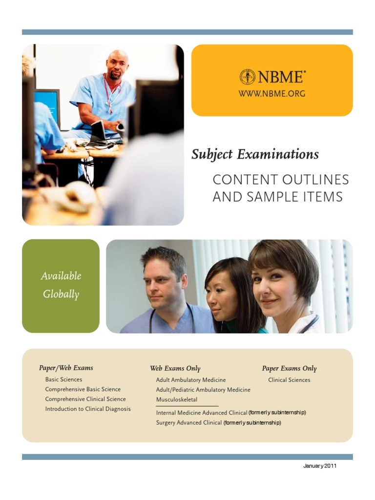NBME Subject Exam Content Outlines and Sample Items | Heart