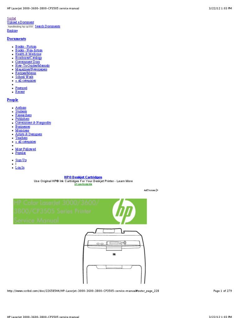 hp color laserjet 3800 service manual