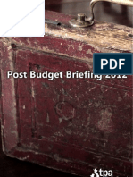 TPA Post Budget Briefing 2012