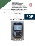 Análisis de Objeto Técnico Del Blackberry