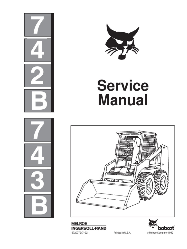 8530114-Bobcat 742b 743b Skid Steer Loader Service Repair
