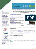 20 Ways to Comp a II v I VI Chord Progression on Guitar