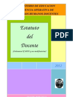 Estatuto Docente Mar 2012