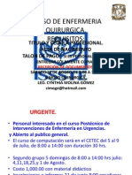 Curso de Enfermeria Quirurgica Requisitos