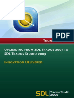 Upgrading From SDL Trados 2007 to SDL Trados Studio 2009 V1
