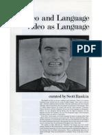 Video and Language/Video as Language
