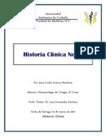Historia Clínica Cirugía No. 3