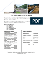 CSS Streets & Utilities Sales Sheet