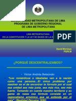 Lima en la Constitución y la ley de bases