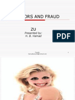 Frauds and other irregularity