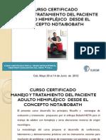 Manejo y tratamiento del paciente adulto hemipléjicco desde el concepto NDTA-Bobath