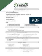 Manaós Tecnologia - Dados Cadastrais 2012