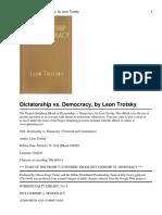 Dictatorship vs. Democracy