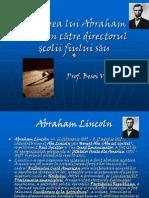 Scrisorea Lui Abraham Lincoln Ctre Directorul Scolii Fiului