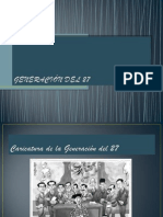Presentacin de La Generacin Del 27 11110