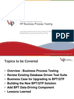 VIP - Leveraging HP Business Process Testing