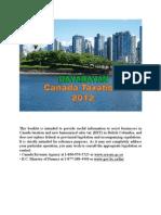 Canada Tax Sumury 2012