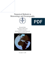 Numerical Methods in Meteorology and Oceanography