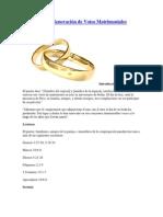 Ceremonia de Renovación de Votos Matrimoniales