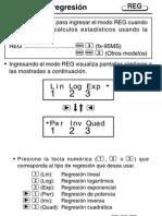 Regresión en calculadora
