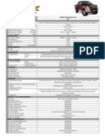 Isuzu Specification - DMax Boondock