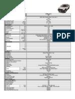 Isuzu Specification - DMax LT 4x2