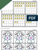 Bunny Ten Frame Match Up