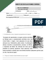 Ficha de Avaliação (Reprodução Animais e Factores do Meio)