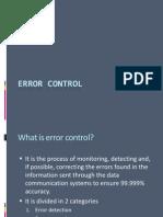 Error Control 1