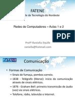 Rede de Com Put Adores - Aula 1 e 2